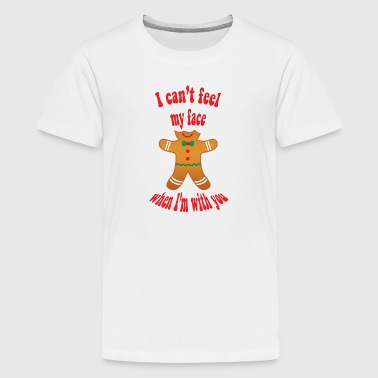 Funny gingerbread man christmas - Teenage Premium T-Shirt