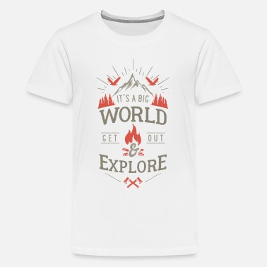 get out & explore - T-shirt Premium Ado