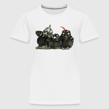 three young crows - Teenage Premium T-Shirt