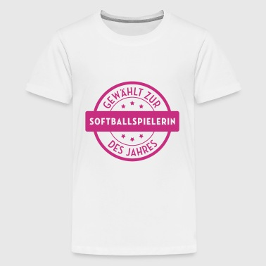 Softball / Softballspieler / Baseball / Sport - Teenager Premium T-Shirt