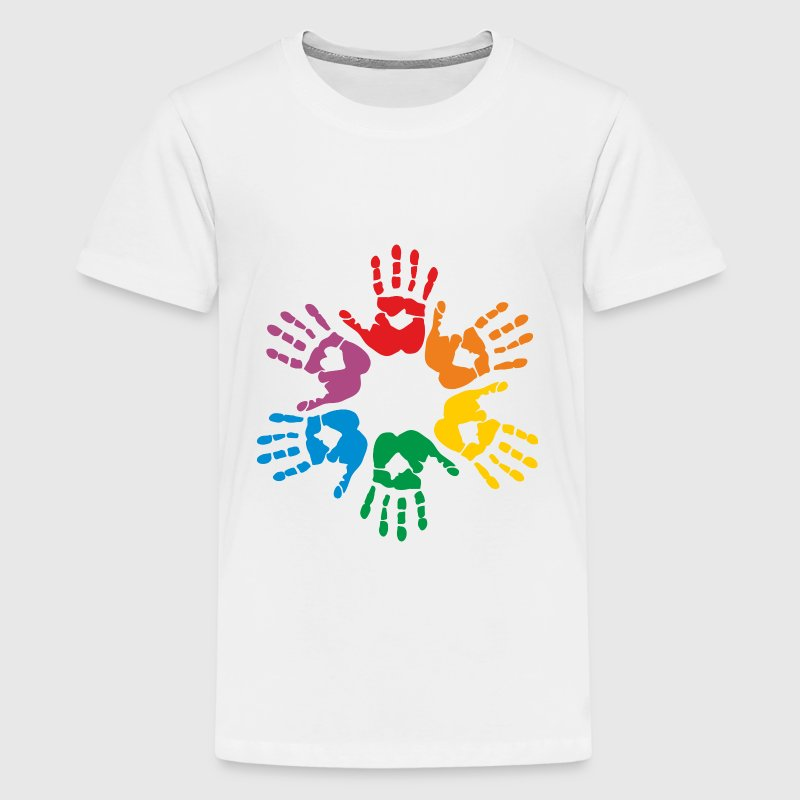 Rainbow hands - T-shirt Premium Ado