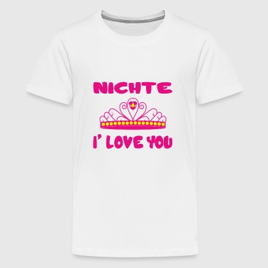 I Love Mamma Nichte i love you - Teenager Premium T-Shirt