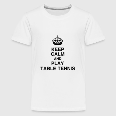 Ping Pong Ball Table Tennis - Ping Pong - Sport - Racket - Ball - Teenage Premium T-Shirt