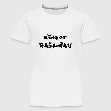 Train Driver Railway Railwayman Cheminot Train Eisenbahn - Teenage Premium T-Shirt