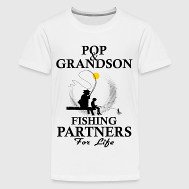 Pop And Grandson Fishing Partners For Life - Teenage Premium T-Shirt