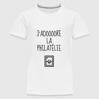 Timbre / Monnaie / Philatelie / Philatelist - T-shirt Premium Ado