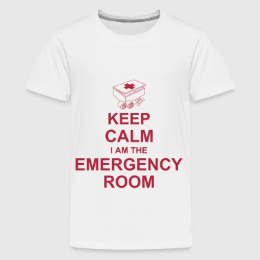 keep_calm_i_am_the_emergency_room_g1 - Teinien premium t-paita