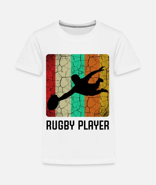 Rugby T-Shirts - Rugby - Teenager Premium T-Shirt Weiß