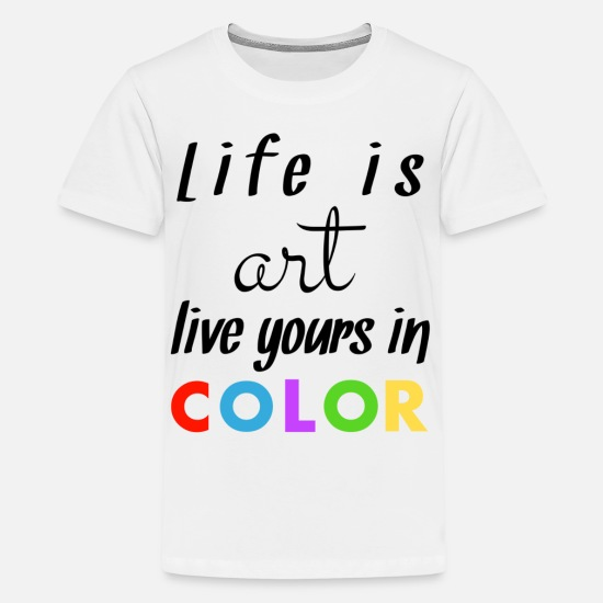 Birthday T-Shirts - Coloured - Teenage Premium T-Shirt white