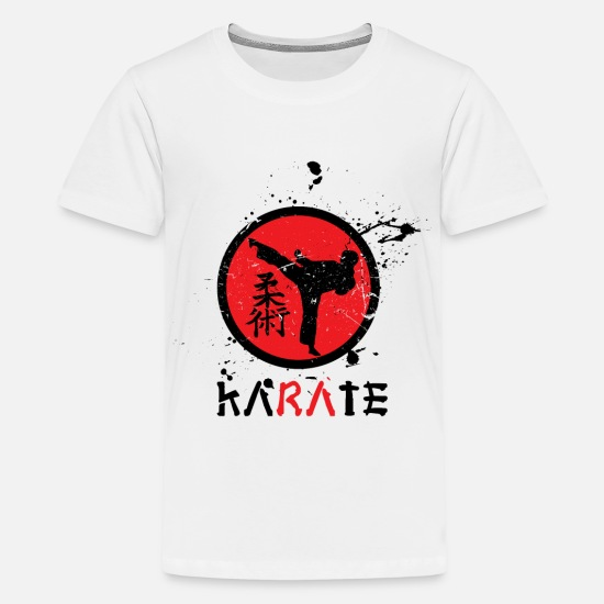 Karate T-Shirts - karate - Teenage Premium T-Shirt white