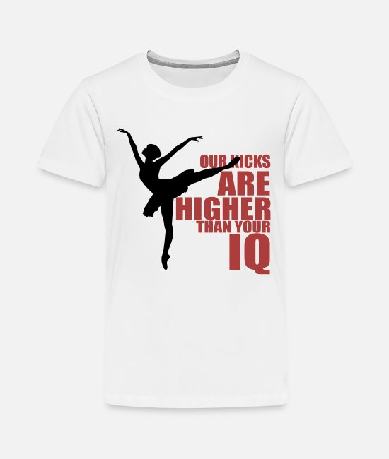 Festival T-Shirts - Great IQ Kicks W Dance Shirt Gift Tee - Teenage Premium T-Shirt white