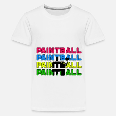 Paintball Paintball Paintball Paintball Paintball - Teenager Premium T-Shirt