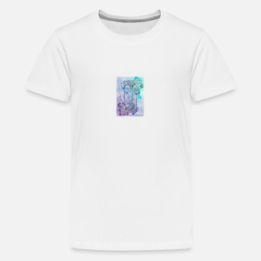 Tattoo Style Rose - Premium T-shirt teenager