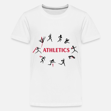 Sport &amp Decathlon, Track and Field - Premium T-shirt teenager