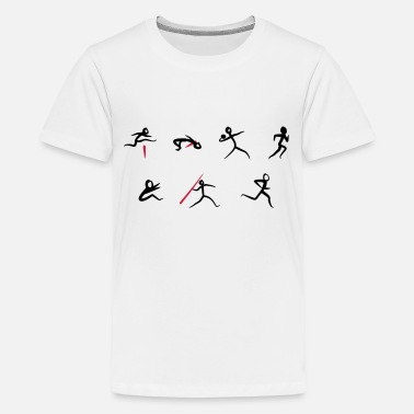 Sport &amp Heptathlon, atletik - Premium T-shirt teenager