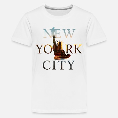 Lady Liberty New York City, NYC, Lady Liberty, Freiheitsstatue - Teenager Premium T-Shirt