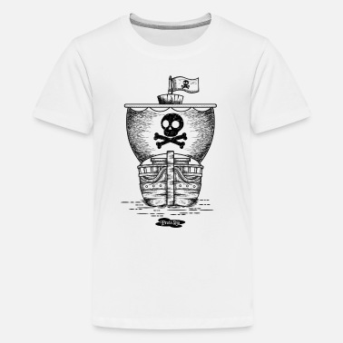 Pirate Ship pirate ship - Teenage Premium T-Shirt
