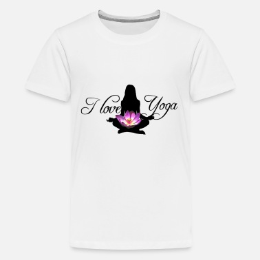 I Love i love Yoga - Teenager Premium T-Shirt