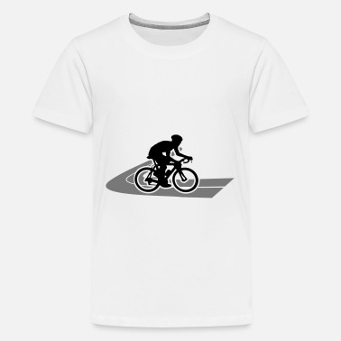 Road Road bike Road cyclist on the road - Teenage Premium T-Shirt