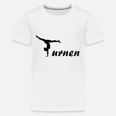 Kunstturnen Turnen, Turnerin - Teenager Premium T-Shirt