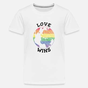 Love Love Wins es un regalo - Camiseta premium adolescente