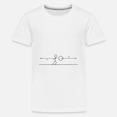 newton's 3rd law - Teenage Premium T-Shirt