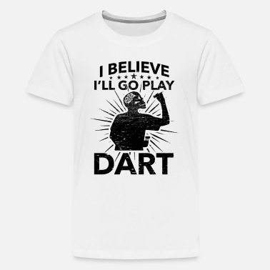 League Game Darts, Bar, League Game, Men's Night, Marriage Club, Fun - Teenage Premium T-Shirt