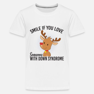 Down With Detroit Smile If You Love Someone With Down Syndrome - Teenager Premium T-Shirt