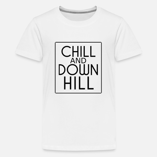 Downhill T-Shirts - Downhill - Teenager Premium T-Shirt Weiß