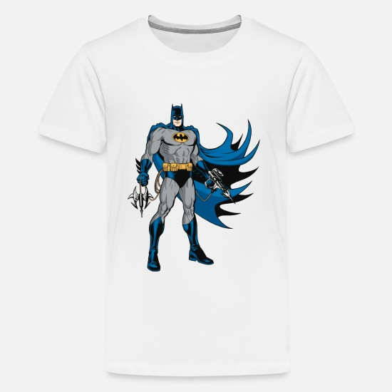 Film T-shirts - Batman Pose with Gear T-shirt tonåring - Premium T-shirt tonåring vit