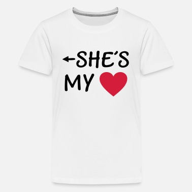 Girlfriend  I love you u my Boyfriend girlfriend husband wife - Teenage Premium T-Shirt