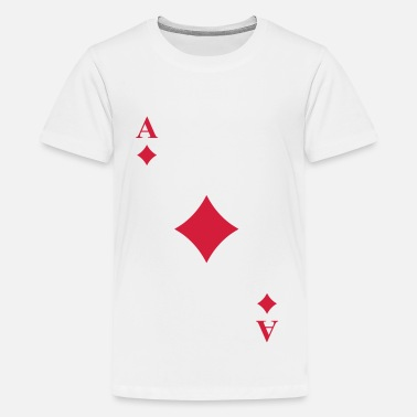 Diamonds Cards - Teenage Premium T-Shirt