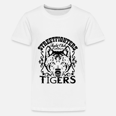 Street fighters fight club tigers - Teenage Premium T-Shirt