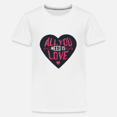 Lieben Liebe Love - Teenager Premium T-Shirt