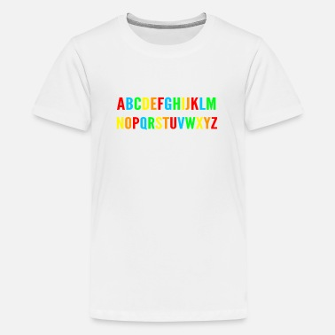 Alphabet alphabet - Teenage Premium T-Shirt