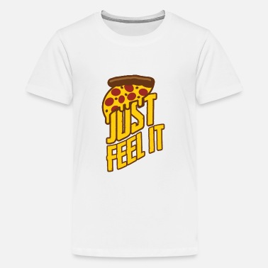 Évolution Super pizza, restauration rapide - T-shirt premium Ado
