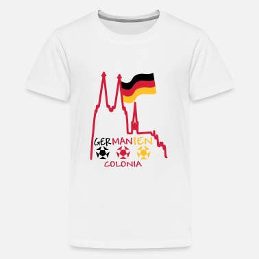 Germania Cologne Germany Germania Colonia - Teenage Premium T-Shirt
