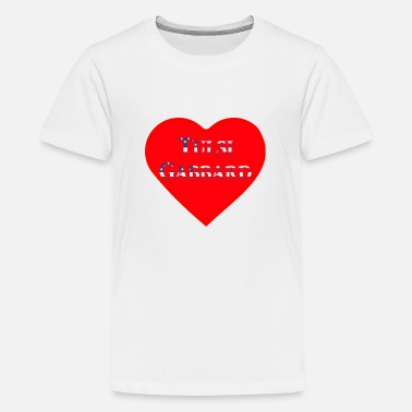 Love Tulsi Gabbard on US Flag - US Election 2020 - Teenager Premium T-Shirt