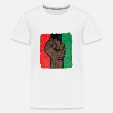 Afro Black Power First-Black History-Black Lives Matter - Teenager Premium T-Shirt