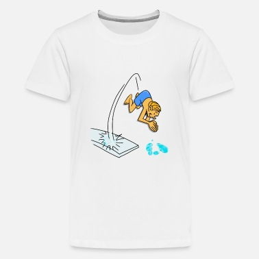 Diving Board Diving From The Diving Board, diving. - Teenage Premium T-Shirt