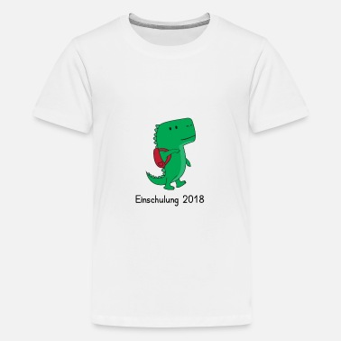 Bookbag Training 2018 - Dino with satchels - Teenage Premium T-Shirt