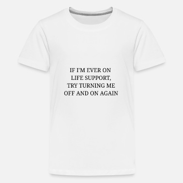 Turn Try to turn it off and turn it on again - Teenage Premium T-Shirt
