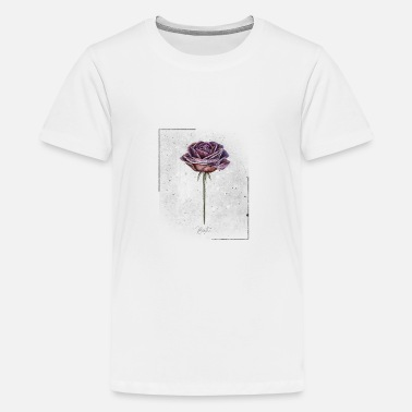 Free Thinker Vintage Rose Flower Red Rose - Teenage Premium T-Shirt