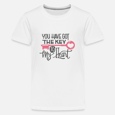 t-shirt you have got the key to my heart gift - Teenage Premium T-Shirt