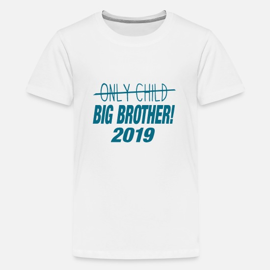Big T-Shirts - Big Brother 2019 - Only Child Crossed Out - Kids - Teenage Premium T-Shirt white