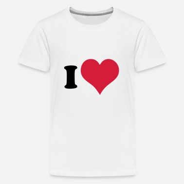 I Heart I Heart - Teenage Premium T-Shirt