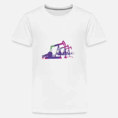 Oil Oil pumps, oil production, oil production, oil - Teenage Premium T-Shirt