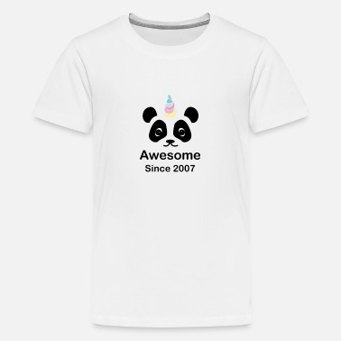 Birthday Panda bear unicorn children's 11th birthday gift - Teenage Premium T-Shirt