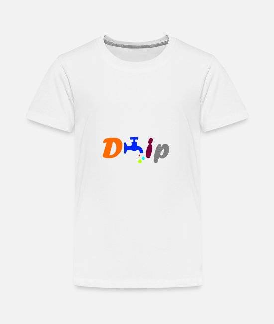 Water T-Shirts - Drip colorful - Teenage Premium T-Shirt white