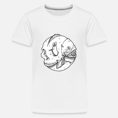 Skull fish - Teenage Premium T-Shirt